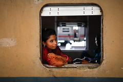 Out of town traveller (Lil [Kristen Elsby]) Tags: travel portrait train topf50 asia trainstation editorial dhaka topv3333 topv4444 bangladesh kamlapur southasia bangladeshi traincarriage travelphotography kamalapur canon5dmarkii kamalapurtrainstation