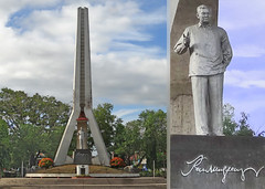Philippines (bilwander) Tags: park travel statue philippines solo obelisk ramon davao magsaysay bilwander phiippines
