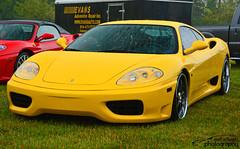 Ferrari 360 (scott597) Tags: columbus ohio dublin wet water rain yellow italian 360 ferrari gathering 2014