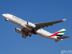 Emirates --- Airbus A330-200 --- A6-EAH (Drinu C) Tags: plane aircraft sony emirates airbus dsc a330 mla lmml a6eah hx100v adrianciliaphotography