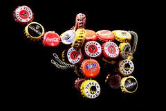 Party elephant (ejhrap) Tags: elephant bottlecap cap cocacola tusker beer pisner guinness fanta