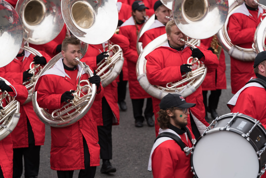 Illinois State University's Big Red Marching Machine [St. Patricks Parade 2017]-125856