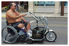 """Motorized"" - Lahaina, Maui (TravelsWithDan) Tags: wheelchair motorized man candid streetphotography lahaina maui hawaii usa local"