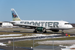 Frontier Airlines Airbus A320-214 - N203FR (AeroPX) Tags: aeropx airbusa320 caryliao ewing frontierairlines kttn n203fr nj newjersey sallythemustang ttn trentonmercercountyairport