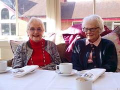 Afternoon tea (Snapshooter46) Tags: elderlyladies afternoontea sitting teacups people relaxing sugarbowl