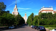 Moscow streets (Irina.yaNeya) Tags: moscow russia city street trees architecture buildings university sky road cars cityscape clouds summer shadow lamps moscú rusia ciudad calle carretera arquitectura edificio universidad cielo coches nubes verano lámparas موسكو روسيا مدينة شارع فنمعماري هندسةمعمارية بناء سماء طريق سيارات الصيف جامعة مصابيح москва россия лето город улица архитектура здания мгу небо дорога машины фонари тень