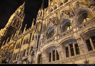 Neues Rathaus @ Night, Munich, Germany