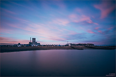 -------I-[]------------ (Kevin HARWIN) Tags: long exposure water sea beach sand stones building huts wood sky blue pink clouds silk canon eos 70d sigma 1020mm lens whitstable kent south east bubble uk england britain
