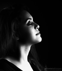 Low Key Female Portrait Black and White Photography
