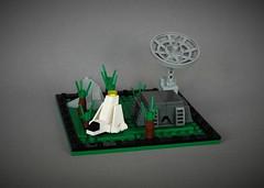 Mini Endor - tabletop version (adde51) Tags: adde51 lego moc starwars star wars endor forrest moon micro microscale ldd lxf instructions