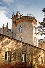 Towers Of The Laitse Castle (k009034) Tags: 500px windows baltic countries copy space estonia laitse tranquil scene architecture branches brick building castle fence no people old shadows tower travel destinations wall teamcanon