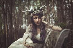 Her deer heart (Marty085) Tags: deer fertility faun dream maternity forest beauty love naturallight portrait woman