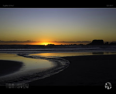 Departing Light Reprise (tomraven) Tags: sunset beach sand stream sea sky rocks island bay reflections tomraven aravenimage q22017 fujifilm xpro1