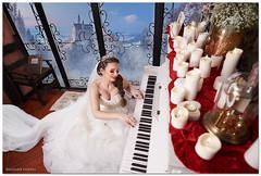 Lavinia (nicolaiecostel) Tags: bride wedding piano candle nikon d750 sigma sigma20f18 trashthedress trash dress veil caste castle fog window frost