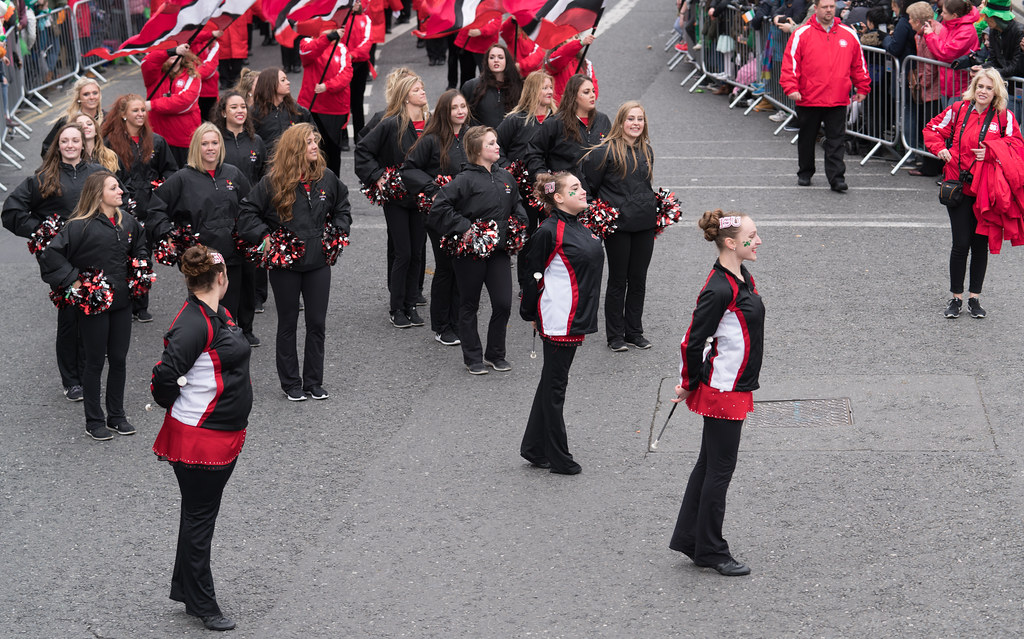 Illinois State University's Big Red Marching Machine [St. Patricks Parade 2017]-125840