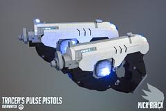 Tracer's Pulse Pistols - Overwatch (Nick Brick) Tags: lego overwatch tracer pulse pistols pistol gun replica 11 life size lena oxton nickbrick brickstuff
