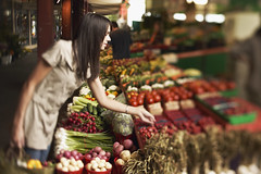 bxp243418 (Mercy Images) Tags: 24353787 2530years produce adult assorted assortment berries brunette casualattire caucasian celery choosing day farmersmarket food fresh fruits greenonions holding indoor inspecting leaning lookingaway midadultwoman potatoes profile radishes selecting selectivefocus serious shopping shoppingbag standing stock threequarterlength tomatoes variety vegetables