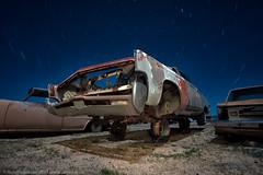 Riding High (dejavue.us) Tags: lightpainting longexposure nightphotography nikon junkyard d800 180350mmf3545 car startrails fullmoon mojavedesert nikkor abandoned california vle