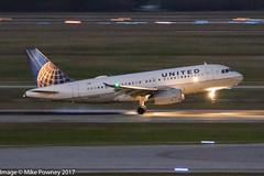 N845UA - 2001 build Airbus A319-131, night arrival on Runway 08R at Houston (egcc) Tags: 4045 1585 a319 a319131 airbus bush houston iah intercontinental kiah lightroom n845ua staralliance texas ua ual united unitedairlines