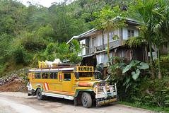 Jeepney Philippines _6976 (ichauvel) Tags: jeepney vehicule bus moyendelocomotion transport coloré coloured jaune yellow maison house rue street exterieur outside végétation philippines batad banaue iledeluzon asie asiedusudest southeastasia voyage travel jour day