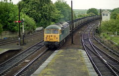 56006 seen on mgr duties at Barnetby Station on 20-5-03. Copyright Ian Cuthbertson (I C railway photo's) Tags: class56 grid 56006 barnetby bangerblue