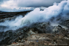 One Hot Island (ankur.mistry) Tags: smoke geological iceland mineral rocks geology geologist nature wonder natural energy clean earth lava ice geothermal power