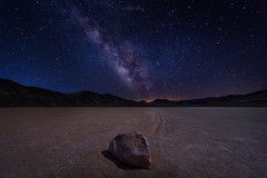 Racetrack to Milky Way (GoMustang - 奔驰野马) Tags: michaelzheng valley deathvalley racetrack milkyway nightsky night sky