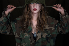 In the army now (Tommy Høyland) Tags: red portrait people woman girl beautiful beauty female hair soldier army holding war uniform long fighter with you military name tag helmet longhair lips dirty her sensual lipstick nametag gi unit femalesoldier girlwithredlipstick loloking holdingherhelmet lolokingatyou