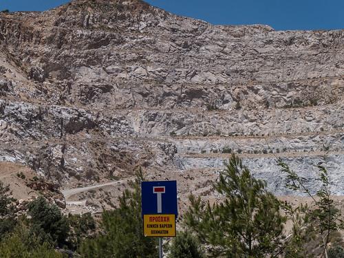 Gypsum mining in Mochlos - εξόρυξη γύψο Μόχλος ς