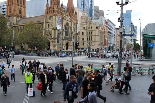 Flinders St Station steps