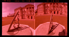 Calke Abbey Sundial (pho-Tony) Tags: slr 120 6x6 film home abbey zeiss mediumformat square lens iso100 reflex xpro crossprocessed fuji cross slide jena communist waist velvia national level single carl processing trust ddr socialist medium format kit commie pentacon expired heavy six bog ultrawide e6 f28 gdr chunky ussr distorsion eastgermany distort stately barrell 80mm pentaconsix 471 f35 arsat rollfilm fujivelvia carlzeiss 30mm zodiak c41 calke pentaconsixtl rvp100 calkeabbey 2880 3035 biometar photosofcameras tetenal autaut zodiak8b 6cmx6cm zodiak8b zodiak30mmlens cfccbe
