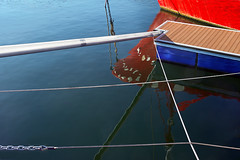 abstraction with mooring ropes and chains (Mimadeo) Tags: sea abstract reflection water lines port reflections harbor pier boat dock iron ship lock vessel cable rope chain wharf anchor sail secure abstraction tied moor chained anchored moored
