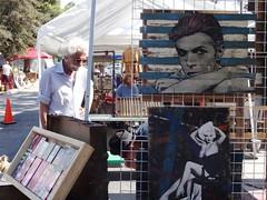 David, Marilyn & white haired dude at LA's Melrose & Fairfax Flea Market (ashabot) Tags: people la losangeles markets cities streetlife streetscenes peoplewatching fleamarkets marketscenes