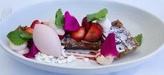 Strawberries, waffle. (villoks) Tags: finland dessert helsinki strawberries gourmet savoy waffle jlkiruoka