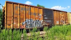 PHONE (BLACK VOMIT) Tags: car train graffiti phone box n mc etc network boxcar ph freight wh kbt