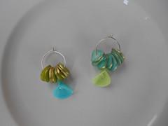 Polymer clay earrings (katerina66) Tags: handmade jewellery polymerclay earrings transparent hoops polymer