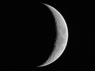 Waxing Crescent Moon - July 1, 2014