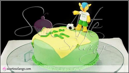 Bolo Decorado – Copa do Mundo / Brasil