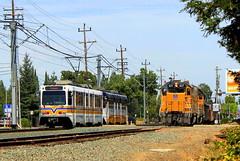 Every Fifteen Minutes Meets Every Few Days (Hunter Lohse) Tags: california ca railroad up train pacific union engine railway locomotive sacramento railfan