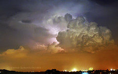 clouds with lightning