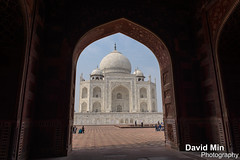 Agra, India - Taj Mahal (GlobeTrotter 2000) Tags: world door travel india heritage tourism taj mahal tajmahal agra visit unesco mausoleum marble wonders inde uttarpradesh