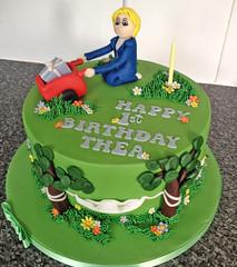 Garden 1st Birthday Cake