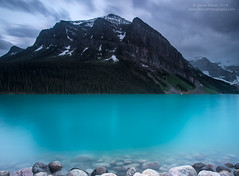 Alluring Lake Louise (Dwood Photography) Tags: park blue trees white lake snow canada tree water pine landscape eerie louise pines national alberta banff albertacanada alluring banffnationalpark dwoodphotography dwoodphotographycom alluringlakelouise