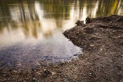 Boise River (El Shooterino) Tags: longexposure trees summer water canon river flow golden rocks smooth bank running pebbles idaho boise le hour nd l 5d 1740mm goldenhour density hoya neutral nd400 neutraldensity