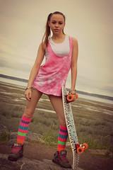 Skateboarder Girl - Rebecca (Luv Duck - Thanks for 15M Views!) Tags: cute pretty skateboarding rebecca modeling ponytail coastaltrail prettygirl skateboarder sexygirl swxy colorfulsocks visforvixen skateboardergirl alvaboard