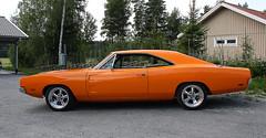 1969 Dodge Charger (crusaderstgeorge) Tags: orange cars 1969 july dodge charger classiccars västerås dodgecharger americancars 2014 1969dodgecharger powermeet americanclassiccars powerbigmeet