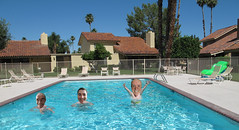 August 3, 2014 (44/365+3) (gaymay) Tags: california gay portrait love pool happy desert palmsprings swimmingpool triad