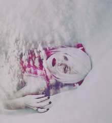 Falling from sky (Nanihta (Sol Vzquez)) Tags: pink portrait sky woman white selfportrait black girl beautiful modern female clouds self vintage hair stars photography model chica hand artistic femme creative dream makeup lips nails mano dreamy concept conceptual oniric pinkhair alternative anillos daydreamer fotografa whitehair concepto nanah fallingfromsky conceptualselfportrait nanihta solvazquez