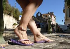Bracelet de cheville (Sofeet !) Tags: sexy feet silver bare flipflop anklet toenail sofeet
