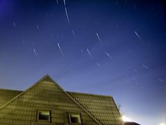 last star trail (Asado De Cordero) Tags: bw white black night canon dark star noche long exposure bn trail estrellas exposicion startrails larga startrail chdk a480